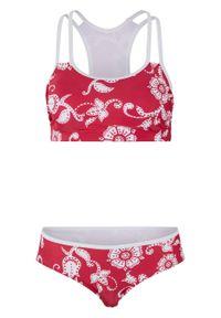 Bikini bustier (2 części) bonprix różowo-biały. Kolor: różowy