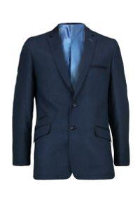 Niebieska marynarka Casino elegancka, w kolorowe wzory