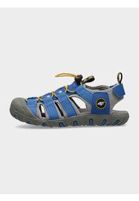 Niebieskie sandały 4f na rzepy