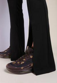 Renee - Brązowe Sneakersy Yrelera. Kolor: brązowy. Materiał: materiał