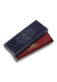 Wittchen - Etui na karty kredytowe skórzane z licznymi przegródkami. Kolor: czerwony. Materiał: skóra