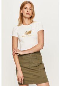 Biała bluzka New Balance casualowa, na co dzień