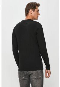 Czarna koszulka z długim rękawem Calvin Klein Jeans casualowa, z nadrukiem