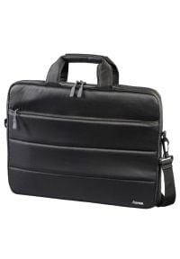 Czarna torba na laptopa hama w kolorowe wzory, biznesowa