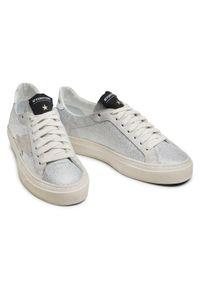 Srebrne sneakersy Stokton