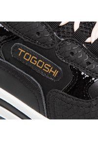 Czarne półbuty Togoshi casualowe, na co dzień, z cholewką #8