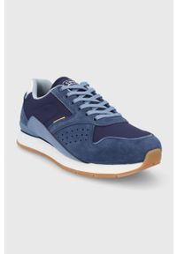 Niebieskie sneakersy Camel Active na sznurówki, z cholewką, z okrągłym noskiem