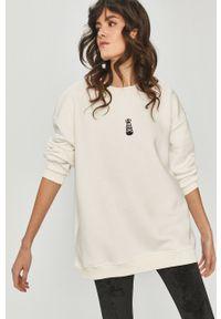Biała bluza Answear Lab wakacyjna, długa