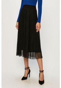 Czarna spódnica only casualowa, z podwyższonym stanem, na co dzień