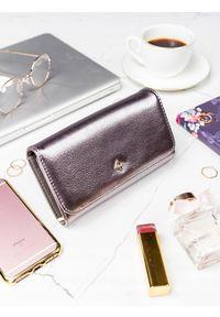 Srebrny portfel MILANO DESIGN w kolorowe wzory