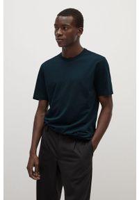 Zielony t-shirt Mango Man na co dzień, casualowy