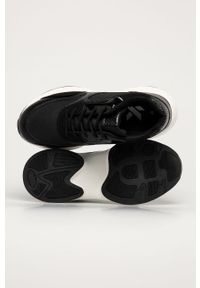 Czarne buty sportowe Answear Lab z okrągłym noskiem, na średnim obcasie, z cholewką, na sznurówki