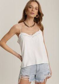 Renee - Biały Top Athilyxo. Kolor: biały