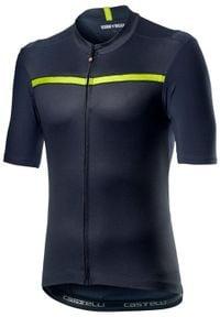 CASTELLI Koszulka kolarska Unlimited granatowa. Kolor: niebieski. Sport: kolarstwo