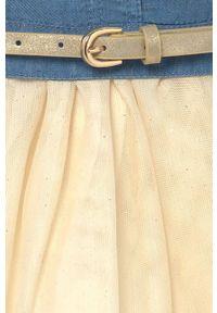 Sukienka Mayoral gładkie, rozkloszowana, z krótkim rękawem