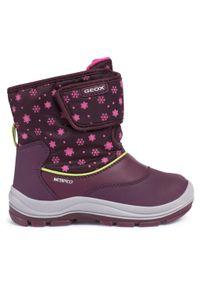 Geox - Śniegowce GEOX - B Flanfil G.Wpf B B044GB 050MN C8017 S Prune. Okazja: na spacer. Kolor: fioletowy. Materiał: skóra, materiał. Szerokość cholewki: normalna. Sezon: zima. Styl: młodzieżowy