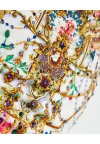 Camilla - CAMILLA - Jednoczęściowy kostium kąpielowy By The Meadow. Kolor: biały. Materiał: materiał. Wzór: kwiaty, aplikacja, nadruk