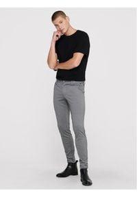 Only & Sons - ONLY & SONS Spodnie materiałowe Mark 22010209 Szary Slim Fit. Kolor: szary. Materiał: materiał #3