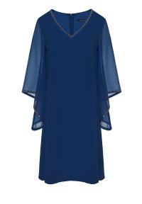 Niebieska sukienka Vito Vergelis na wesele, plus size