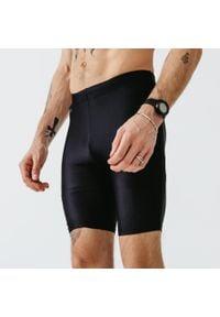 KALENJI - Legginsy do biegania krótkie męskie Kalenji Run Dry. Kolor: czarny. Materiał: poliester, elastan, materiał. Sport: bieganie