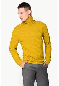 Żółty golf Lancerto z golfem, elegancki, do pracy