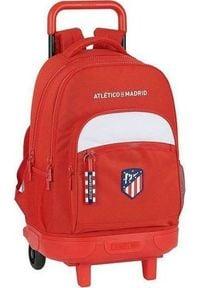 Atletico Torba szkolna z kółkami Compact Atltico Madrid Biały Czerwony. Kolor: biały, wielokolorowy, czerwony