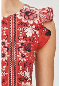 Czerwona sukienka Pepe Jeans casualowa, mini