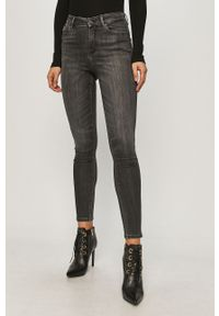 Szare jeansy Guess Jeans z podwyższonym stanem