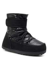 Czarne buty zimowe Bogner klasyczne, z cholewką