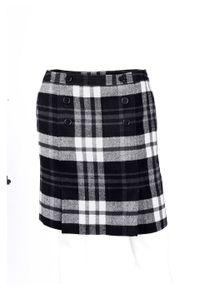 Spódnica w kratę bonprix czarno-biały w kratę. Kolor: czarny