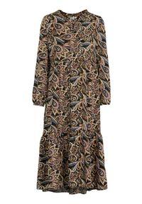 Cream Wzorzysta sukienka z wiskozy Tulina Czarny we wzory female czarny/ze wzorem 36. Kolor: czarny. Materiał: wiskoza. Długość rękawa: długi rękaw. Styl: elegancki
