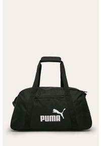Czarna shopperka Puma z nadrukiem, duża, na ramię