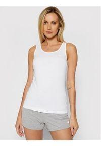 4f - 4F Bluzka NOSH4-TSD003 Biały Slim Fit. Kolor: biały