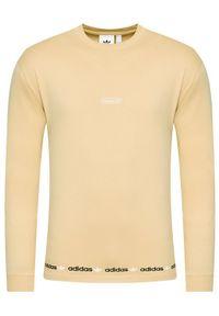 Adidas - adidas Longsleeve Linear Repeat GN3879 Beżowy Standard Fit. Kolor: beżowy. Długość rękawa: długi rękaw