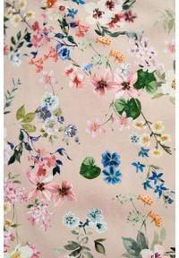 Marie Zélie - Sukienka Asteria Cosmo. Materiał: skóra, elastan, bawełna, materiał. Wzór: gładki. Typ sukienki: trapezowe. Styl: klasyczny