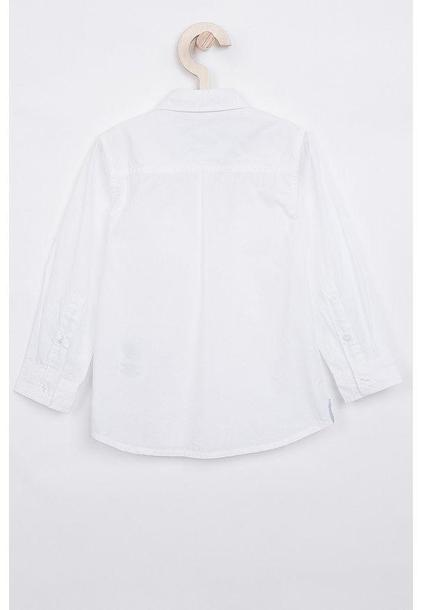 Biała koszula Pepe Jeans długa, z klasycznym kołnierzykiem, klasyczna