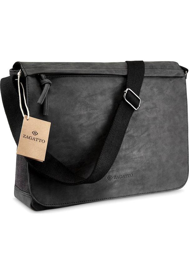 Czarna torba na laptopa Zagatto