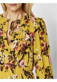 Żółta sukienka iBlues prosta, na co dzień