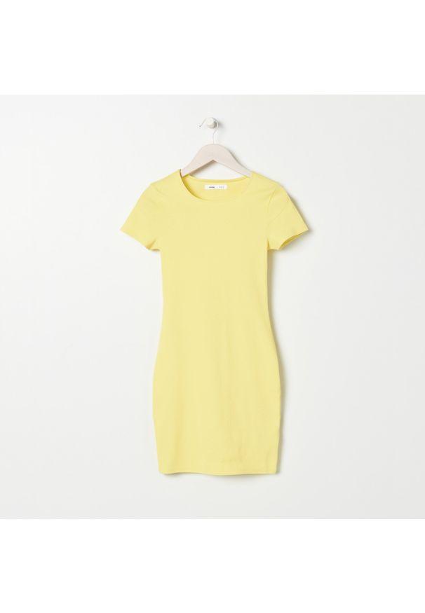 Sinsay - Sukienka mini - Żółty. Kolor: żółty. Długość: mini