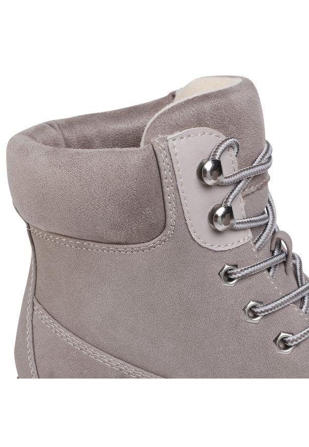 Szare buty trekkingowe Jenny Fairy z cholewką