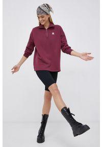 adidas Originals - Bluza bawełniana. Okazja: na co dzień. Kolor: fioletowy. Materiał: bawełna. Długość rękawa: długi rękaw. Długość: krótkie. Styl: casual