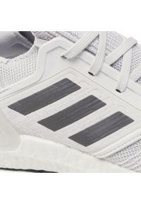 Szare buty do biegania Adidas z cholewką