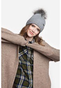 Zimowa czapka damska PaMaMi - Pomarańczowy. Kolor: pomarańczowy. Materiał: akryl. Sezon: zima #3