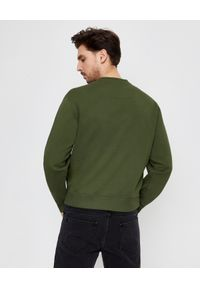 Kenzo - KENZO - Zielona bluza z haftowanym tygrysem. Kolor: zielony. Materiał: bawełna, prążkowany. Długość rękawa: długi rękaw. Długość: długie. Wzór: haft. Styl: sportowy, klasyczny