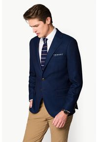Niebieska marynarka Lancerto elegancka
