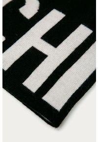 Czarna czapka MOSCHINO z nadrukiem