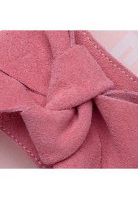Różowe klapki Manebi z aplikacjami, na co dzień, casualowe