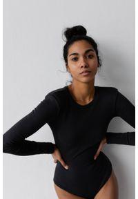 Marsala - Body z długim rękawem w kolorze WASHED BLACK - CONDITION BY MARSALA. Materiał: bawełna, prążkowany, materiał, elastan. Długość: długie