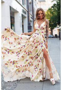 Wielokolorowa długa sukienka IVET na lato, w kwiaty