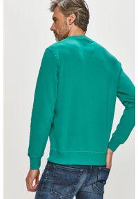 Miętowa bluza nierozpinana Pepe Jeans z nadrukiem, casualowa, bez kaptura